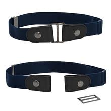 1pcs Unisex Buckle-free Belt Traceless Dress Ladies Slim Sports Jeans Waist Belt Women's Punk Elasti