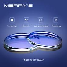 MERRYS Anti Blu di Blocco Luce 1.56 1.61 1.67 Da Vista CR-39 Resina Lenti Asferiche Occhiali Lenti Miopia Ipermetropia Presbiopia Lens