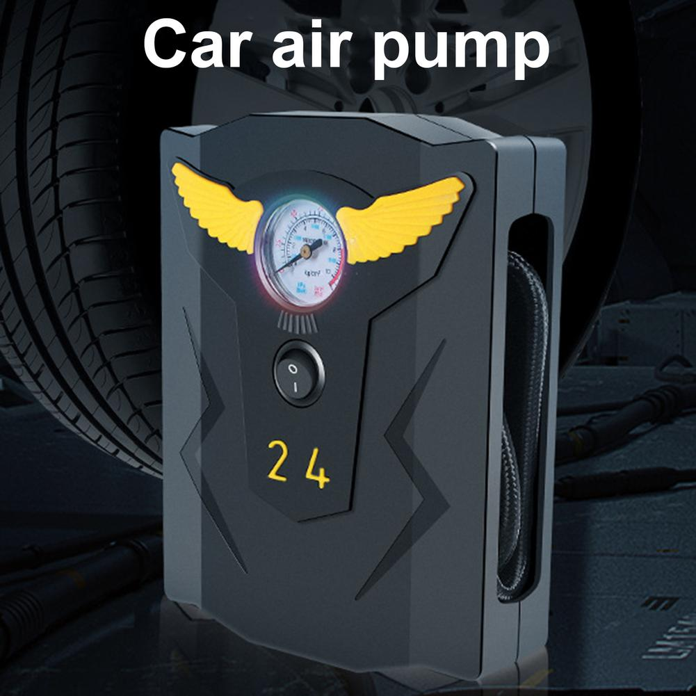 Bomba de aire inflable para coche, compresor de aire portátil ABS, Inflador...