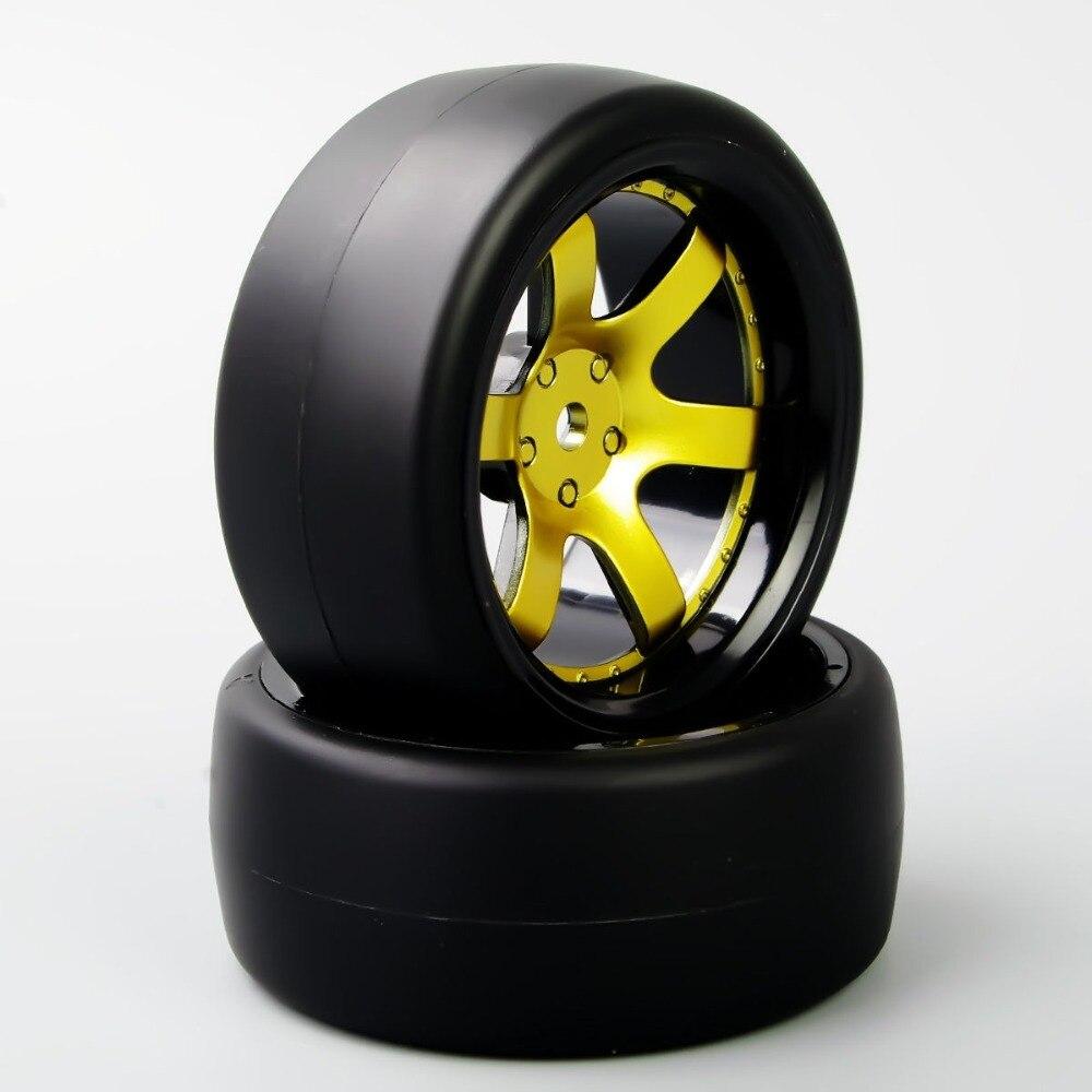 4 Uds escala 110 RC velocidad Drift neumático para autos de carrera y rueda 6 radios para HSP HPI D6NKG