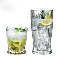 2 pcslot classical transparent fashion whiskey wine glass party pub wine drinking glass cups 200902 07