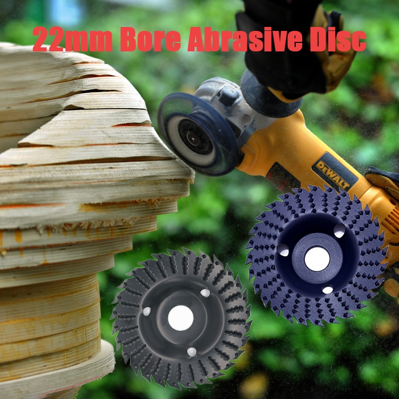 Blade Style Wood Angle Grinding Wheel Abrasive Disc Angle Grinder Carbide Coating 22mm Bore Shaping Sanding Carving Rotary Tools