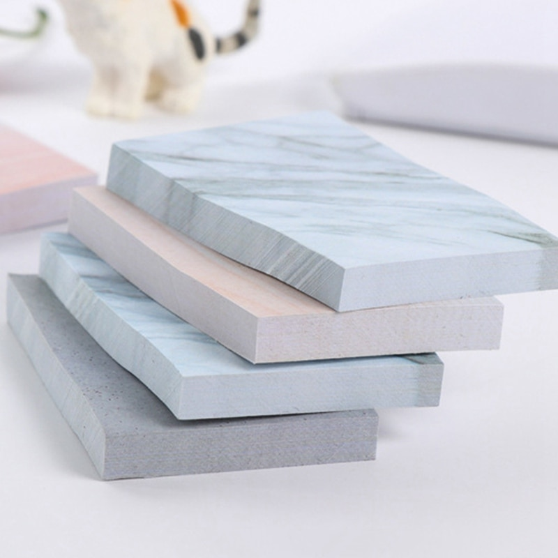 Фото - Creative Simple Stone Texture Convenient Stickers Urine Notebook - Cement Gray 7.1 * 4.5cm Student Office Stationery gray stone