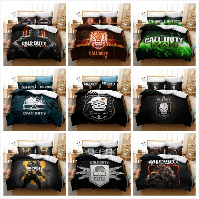 3D Printed Call of Duty Game Comforter Bedding Set with Pillowcases Kids Adult Queen King Size  Home Textile Duvet Cover Set