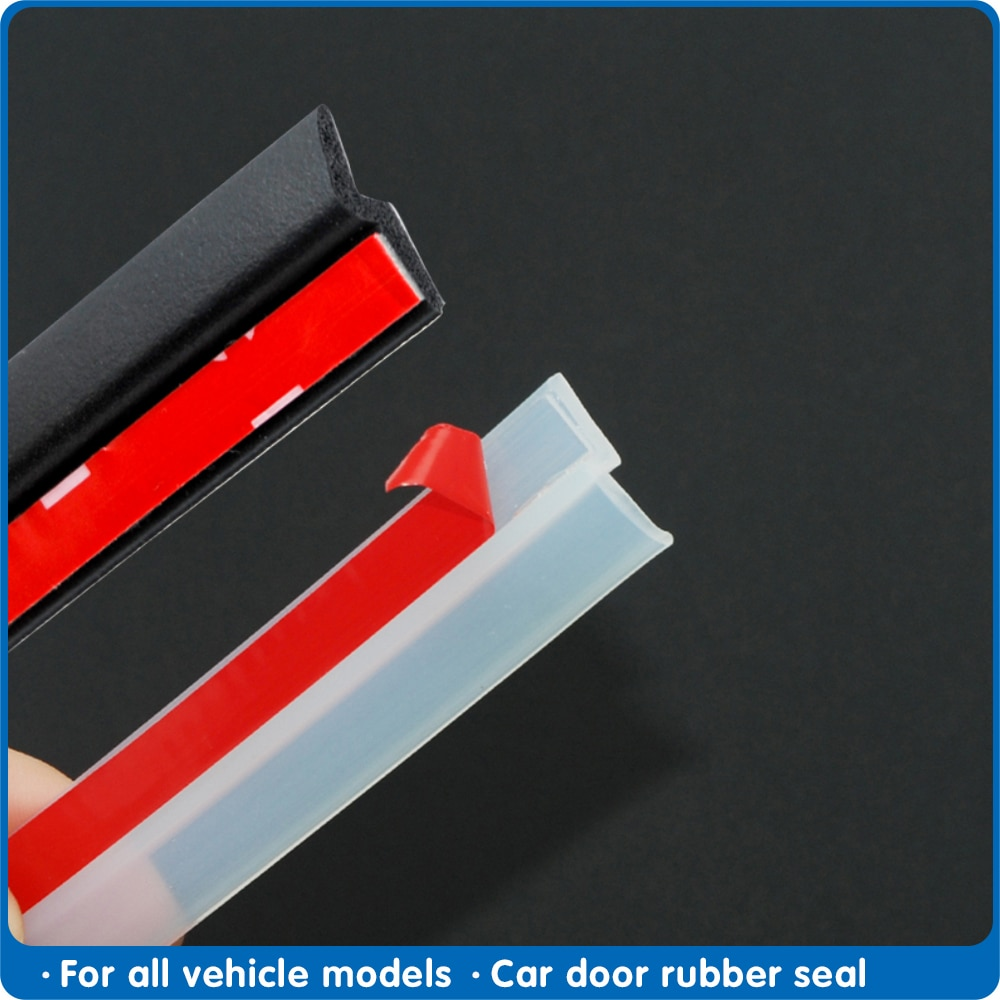 4 Meters Z type Car Door Seal strip sound insulation Transparent Black sealing strip high quality au
