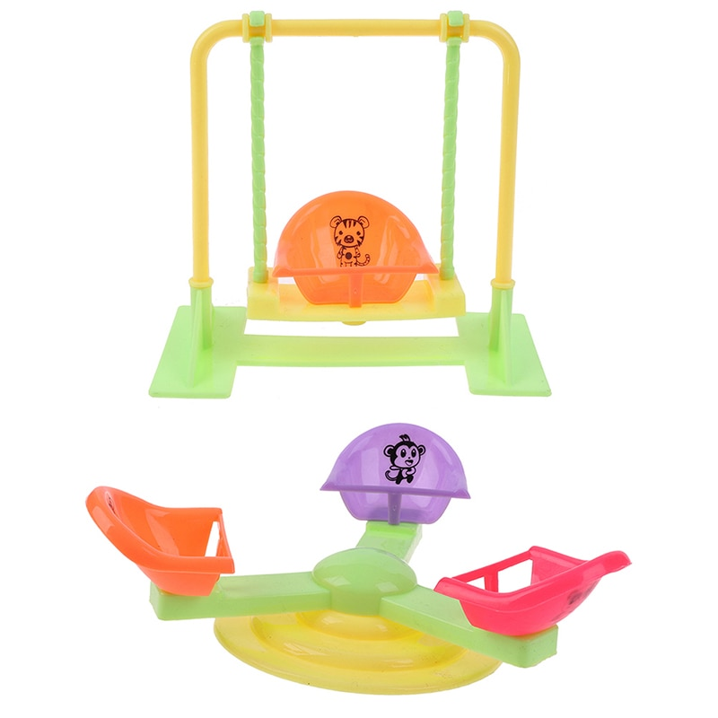 Girl Play House Doll Amusement Park For Doll Slide Amusement Park Slide Swing Accessories Doll Swing