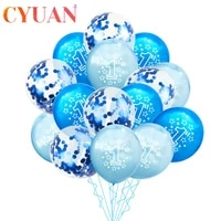 cyuan blue boy 1st birthday latex balloons confetti set birthday party decoration kids first birthday baby shower 1 year old