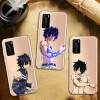 gray fullbuster fairy tail anime phone case transparent for huawei honor nova c x 7 8 3 4 9 65g se v t play pro lite