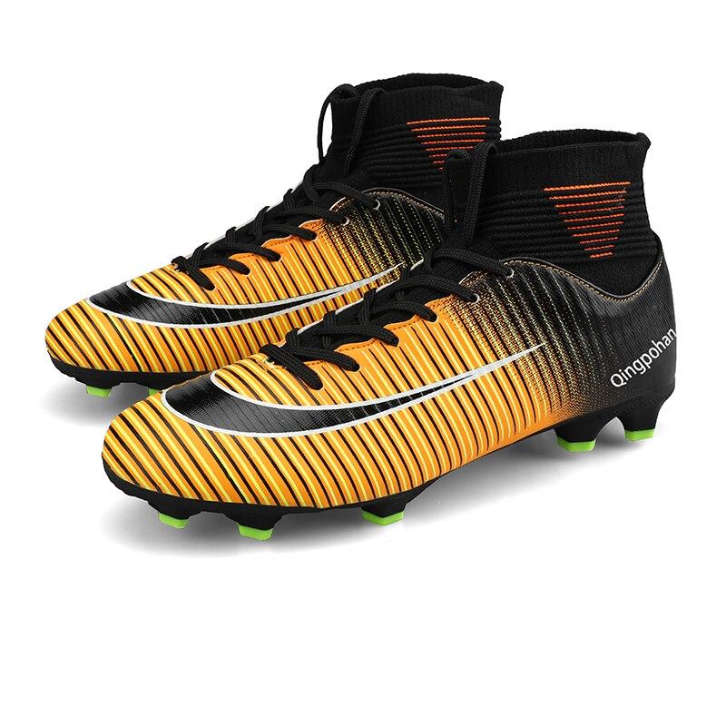 Фото - Футбольная обувь с длинными шипами FG/TF, уличные тренировочные футбольные бутсы, сникерсы, сверхлегкие Нескользящие футбольные бутсы, 32-45 бутсы детские nike superfly 7 academy mds fg mg bq5409 110