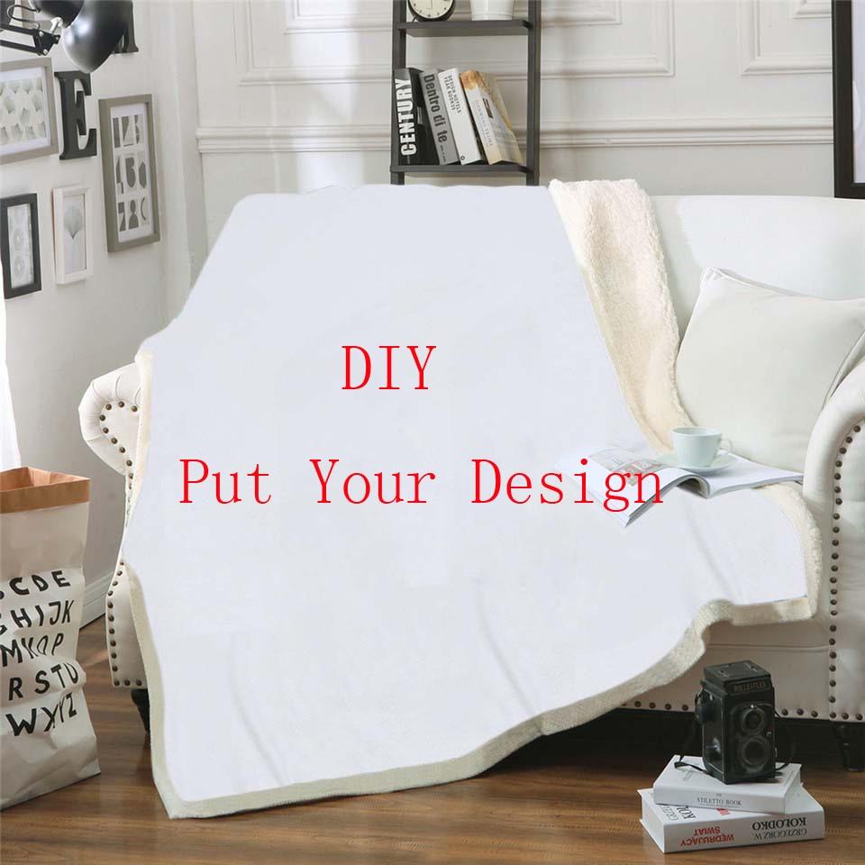 العرف لتقوم بها بنفسك الصوف بطانية ثلاثية الأبعاد المطبوعة شيربا بطانية على السرير المنسوجات المنزلية نمط حلم-4