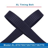 XL timing belt model-670XL/700XL/720XL/730XL/736XL/770XL belt teeth pitch 5.08mm width 10/15mm for XL timing pulley