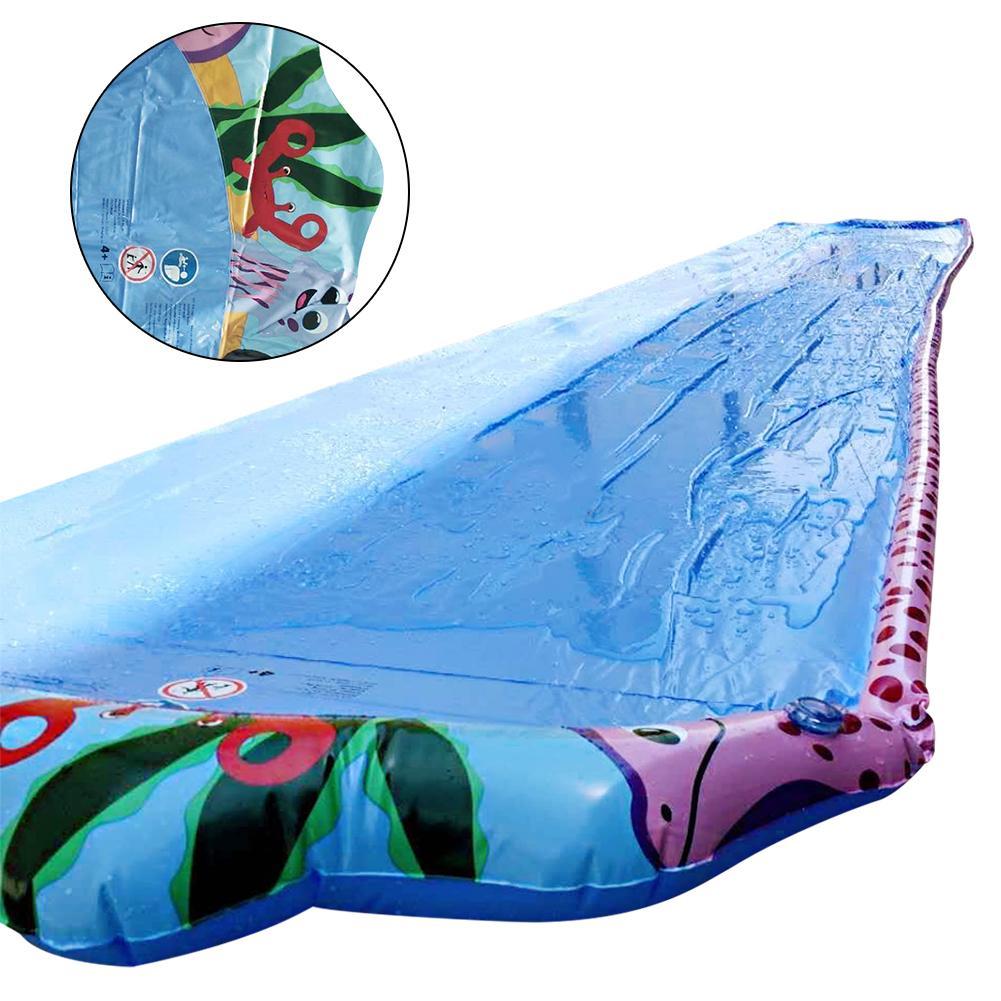 6m Children Water Slide Summer Water Toy Single Waterslide Lawn Game Supplies For Parent-child Outdoor Activities