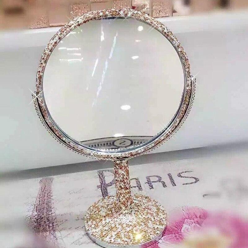 Espelho de Mesa com Cristais Cosméticos para Casa Dia dos Namorados Completos Espelho Mesa Espelhos Presente Casamento Wy817