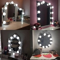 usb vanity mirror light 10 led bulbs dimmable for dressing table hollywood makeup lamp