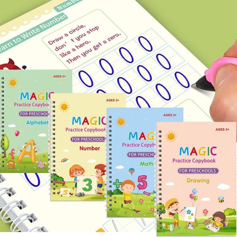 libro-magico-de-practica-para-ninos-juguete-de-escritura-con-pegatina-reutilizable-limpieza-gratuita-garrafas-en-ingles-dibujo-escritura-4-cuadernos