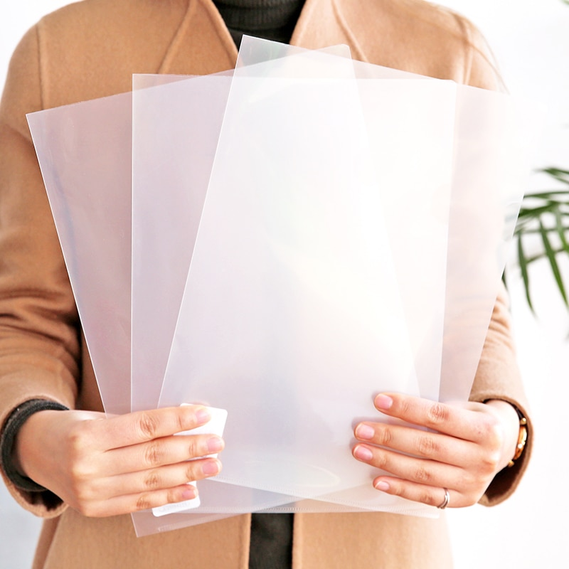 1 шт. офиса школы A4 папка для документов Прозрачный L-Тип Пластик папка подачи файлы презентаций Бумага крышка канцелярские принадлежности