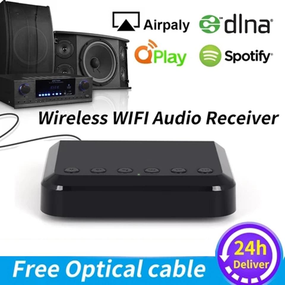 WR320-محول موسيقى لاسلكي ، مستقبل صوت لاسلكي ، متعدد الغرف ، من أجل Airplay DLNA ، مكبرات صوت HiFi التقليدية Spotify