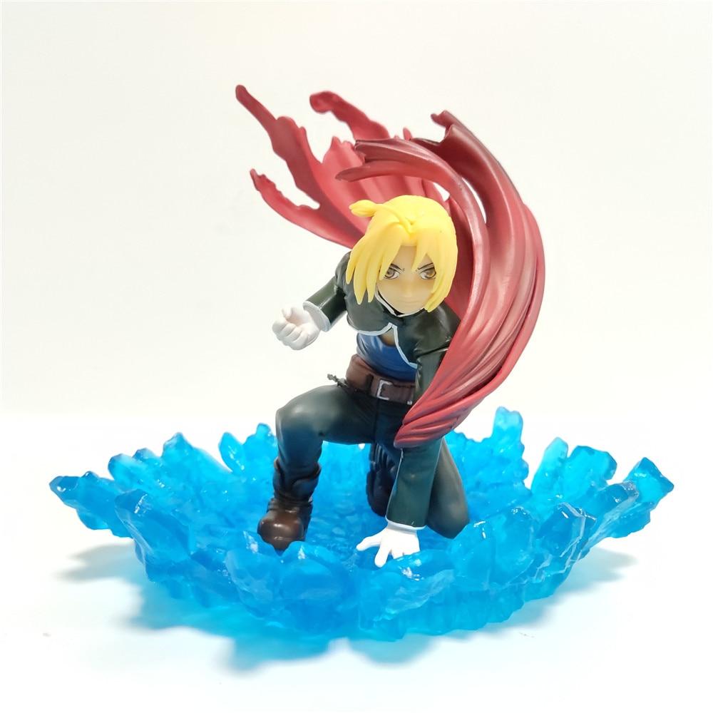 Fullmetal Alchemist Edward Elric Base azul DIY PVC modelo acción figura Anime muñeca Edward juguete figuras colección regalo de Navidad