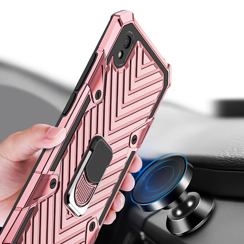 360°Lightning Armor Case For Xiaomi Redmi 9 9A 8A 7A 6A 7 6 Note 9S 8 9 Pro Max Compatible Car Holder Anti-drop Suitable Cover