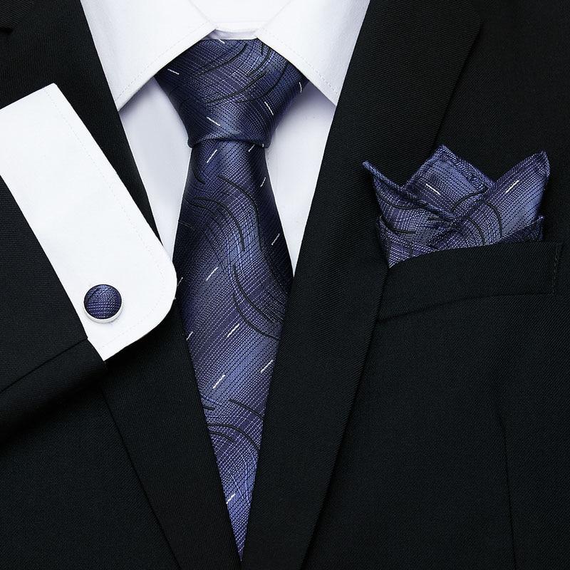Corbata azul y roja de lujo de Paisley para hombre, corbata de seda para hombre, corbata de negocios para boda de 8 cm de ancho
