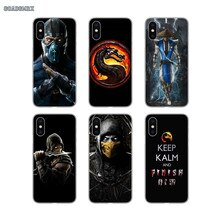 Mortal Kombat Scorpion Mask Logo Transparent Soft Shell Covers For Xiaomi Mi A1 A2 A3 9 SE 9t Lite Redmi 7A Note 4X 5 8 Pro