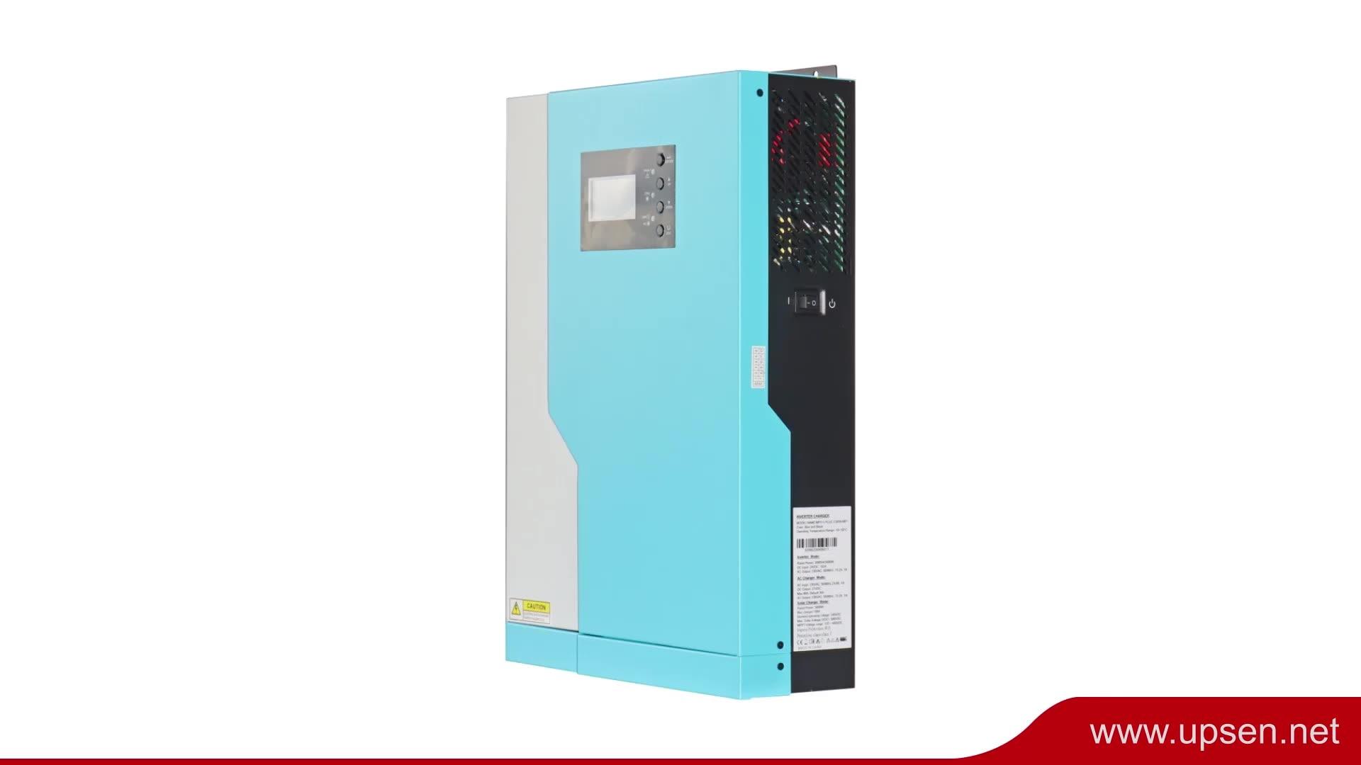 عاكس الطاقة الشمسية 3200 واط 5000 واط مع وحدة تحكم PF 1 و 80Amp Mppt