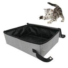 Exterior, Camping, Hogar, baño, portátil, impermeable, plegable, tela Oxford con tapa, limpieza, inodoro, suave, caja de arena de viaje para gatos