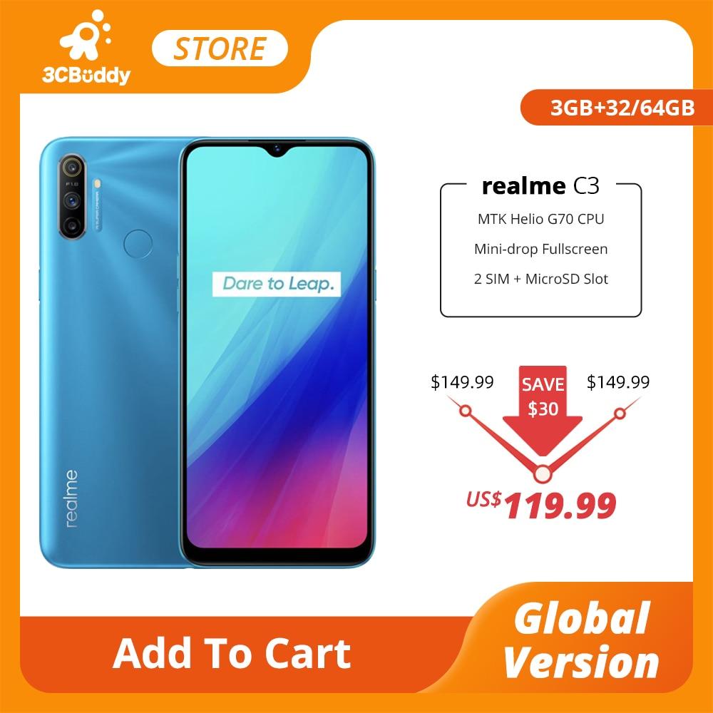 Перейти на Алиэкспресс и купить Смартфон realme C3, 3 + 32/64 ГБ, 12 МП, 5000 мАч