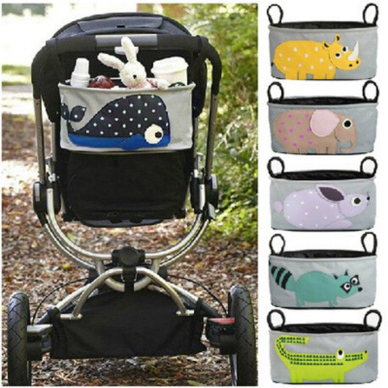 Large Space Baby Stroller Hook Bag Pram Accessories Stroller Organizer Hanging Bag Baby Carriage Bag Mummy Storage Bag