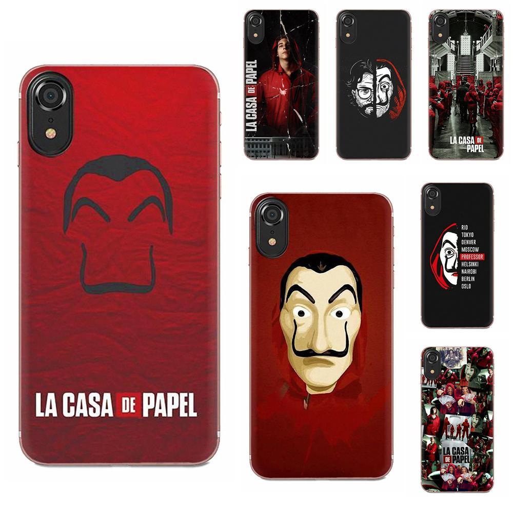 TPU Case Protective La Casa De Papel For Galaxy Grand A3 A5 A7 A8 A9 A9S On5 On7 Plus Pro Star 2015 2016 2017 2018