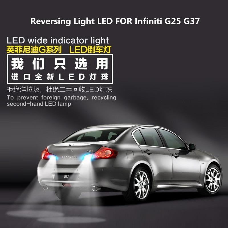 Luz de marcha atrás LED para G25 Infiniti G37 luz auxiliar de salida 9W T15 5300K G25 G37 Modificación de faros