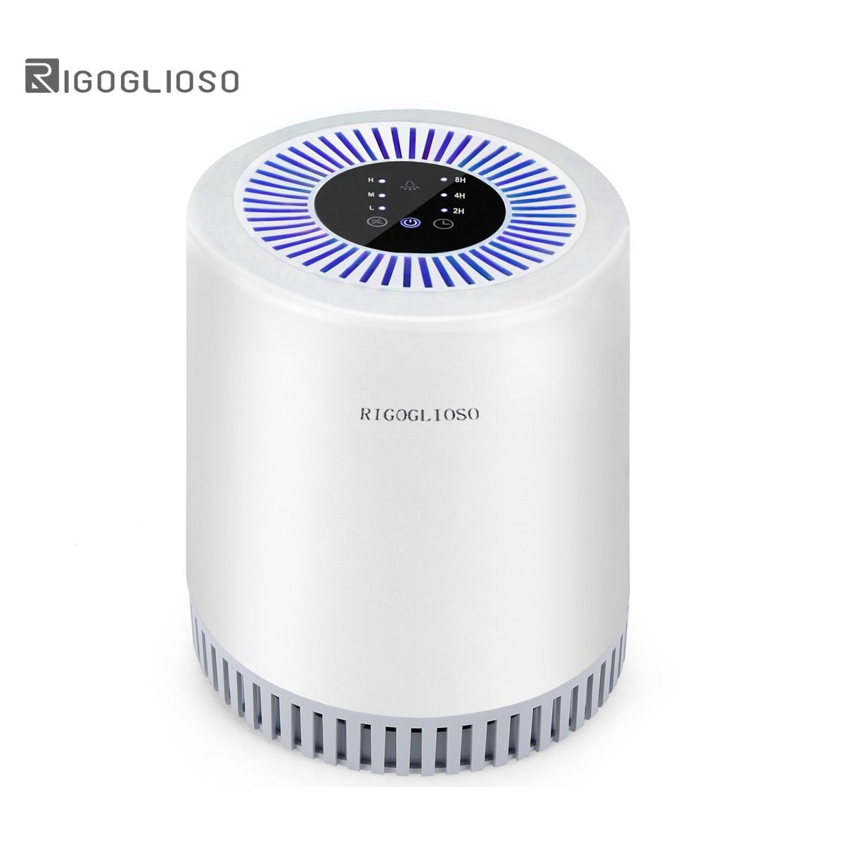 RIGOGLIOSO air purifier for home car air purifier filter ture hepa carbon three-layer filter air cleaner 110-240V EU US UK plug