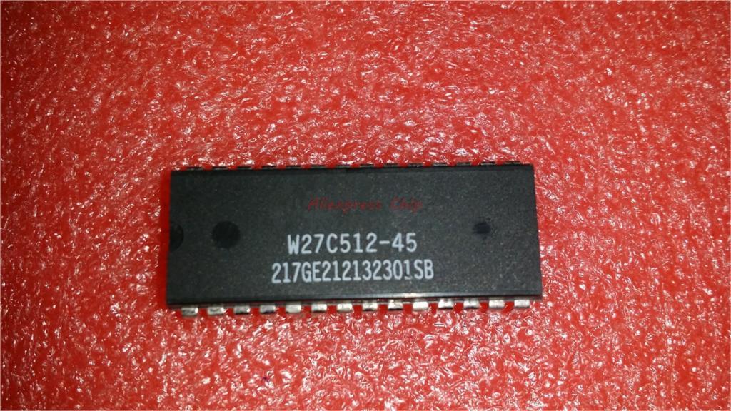 1pcs/lot W27C512-45Z DIP-28 W27C512-45 W27E512-12 W27C512 64K X 8 ELECTRICALLY ERASABLE EPROM IC In Stock