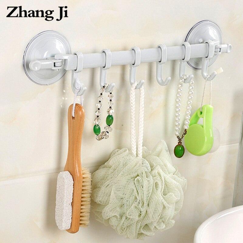 Estante de esquina multifuncional para baño ZhangJi estante de pared simple ligero toalleros con ganchos cocina ventosa gancho estante