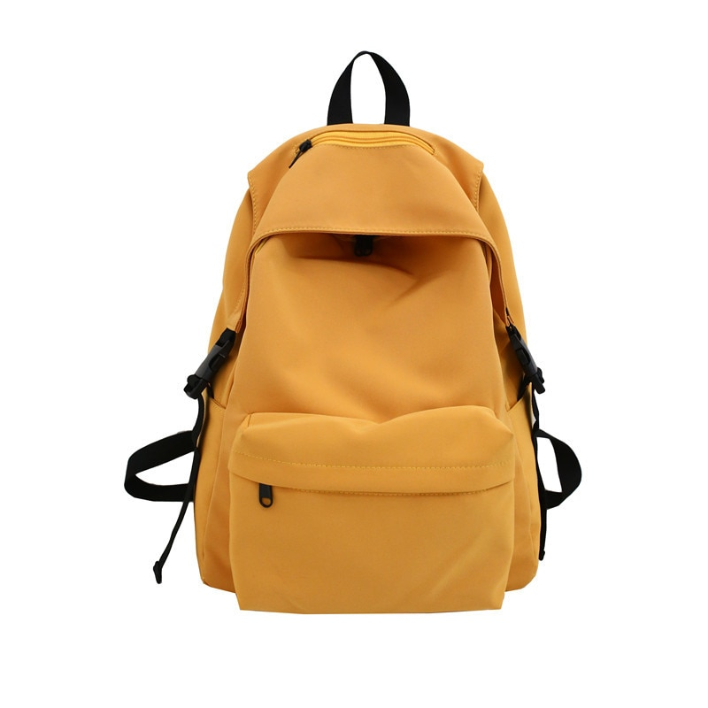 Solid Nylon Zipper Schoolbag for College Students Outdoor Travel Bags Student Bookbag Laptop Backpack 2020