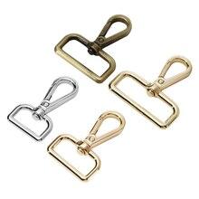 MIUSIE-boucles en métal, Clips de gâchette détachables pour sangle/ceinture en cuir, laisse pour animaux de compagnie, 20 à 38mm