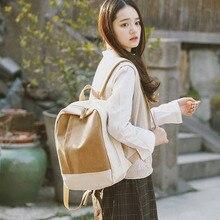 Women Backpack Canvas School Bags For Teenagers Girls Boys Female Cuasul Travel Rucksack Student Boo
