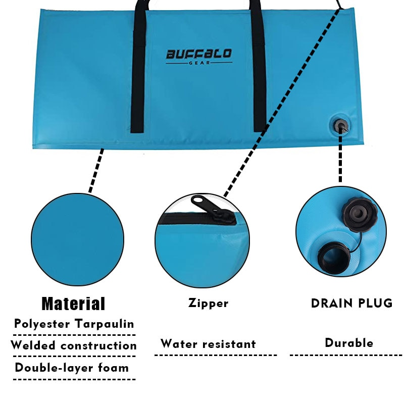 Insulate Fish Cooler Bag Kayak Kill Bag with Drain Plug Beach Surf Tackle Storage Bag Perfect Leakproof Sea,Lake River Fishing enlarge
