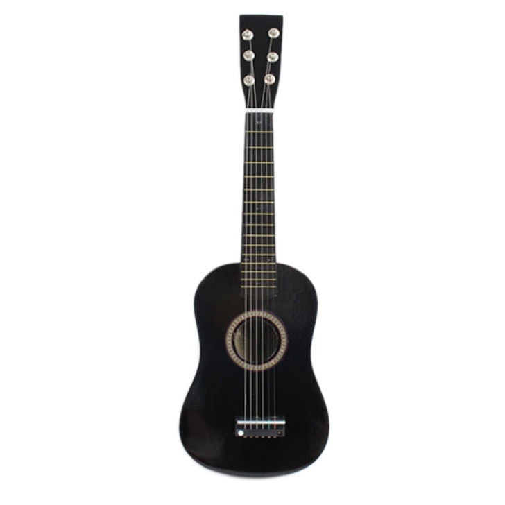 23inch Guitar Mini Guitar Basswood Kid's Musical Toy Acoustic Stringed Instrument with Plectrum 1st String Black enlarge