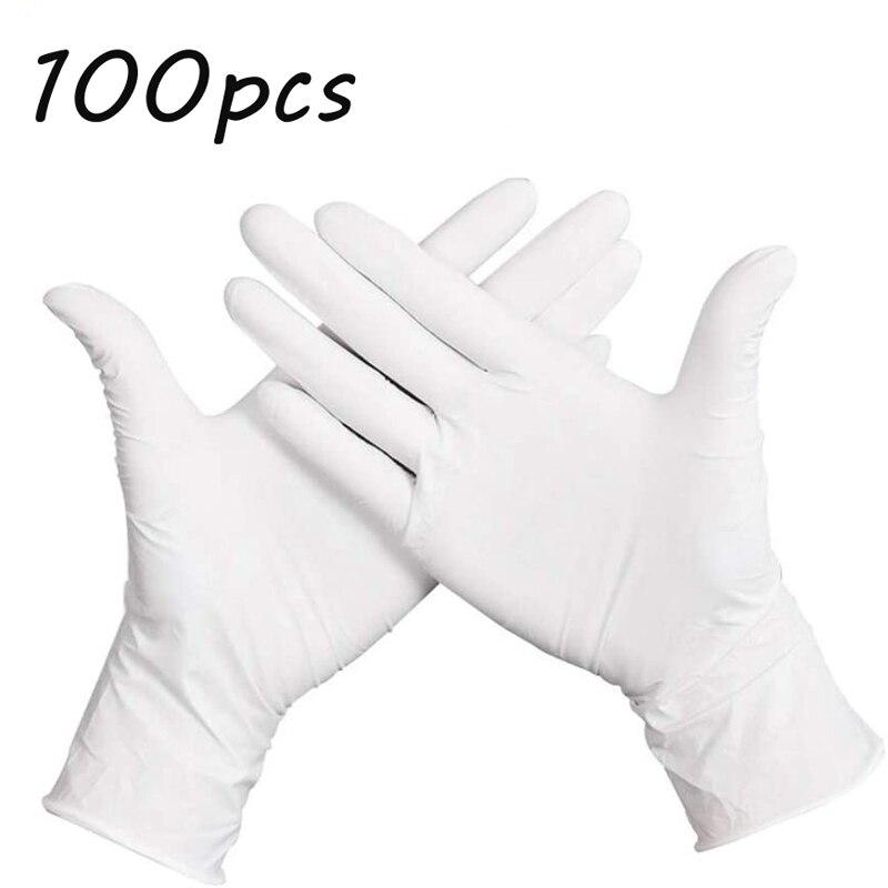100 stücke Nitril Einweg Küche Handschuhe Ideal für Lebensmittel Prep und Reinigung Service Kochen Kunststoff Goves Pulver Kostenloser Latex Handschuh