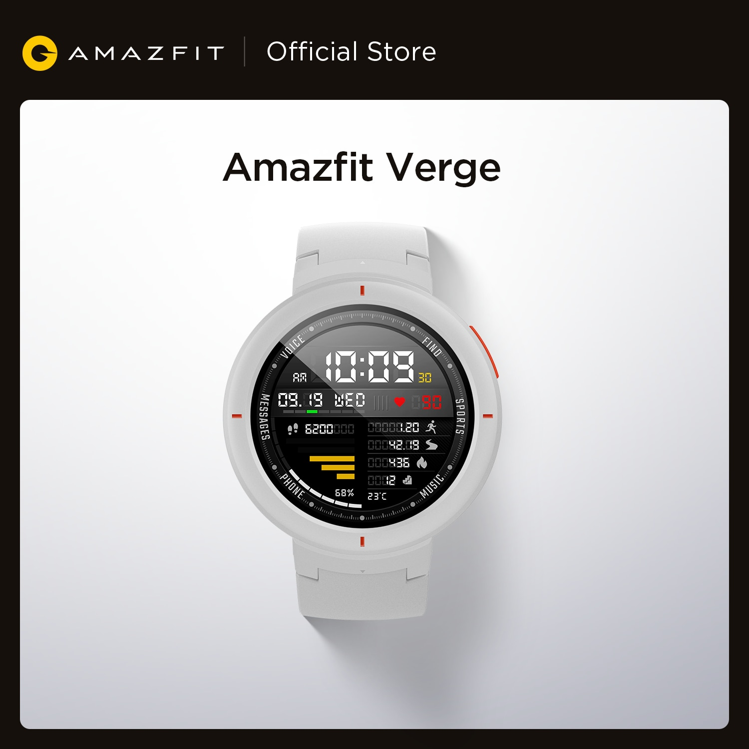 Global Version New Amazfit Verge Smartwatch GPS GLONASS Call Answer Smart Message Push for Android Phone iOS