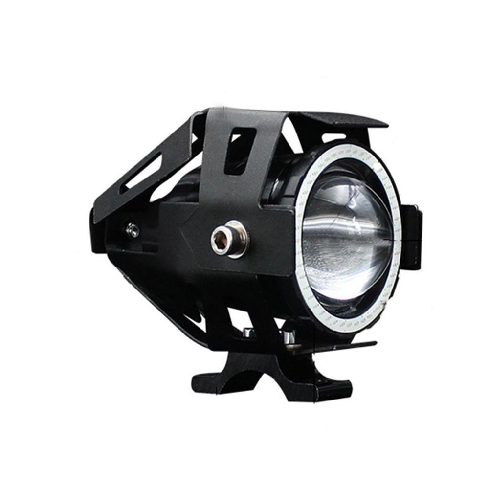125W 12V Motorcycle Headlight 3000LM moto spotlight U7 LED Driving Fog Spot Head Light Decorative Lamp