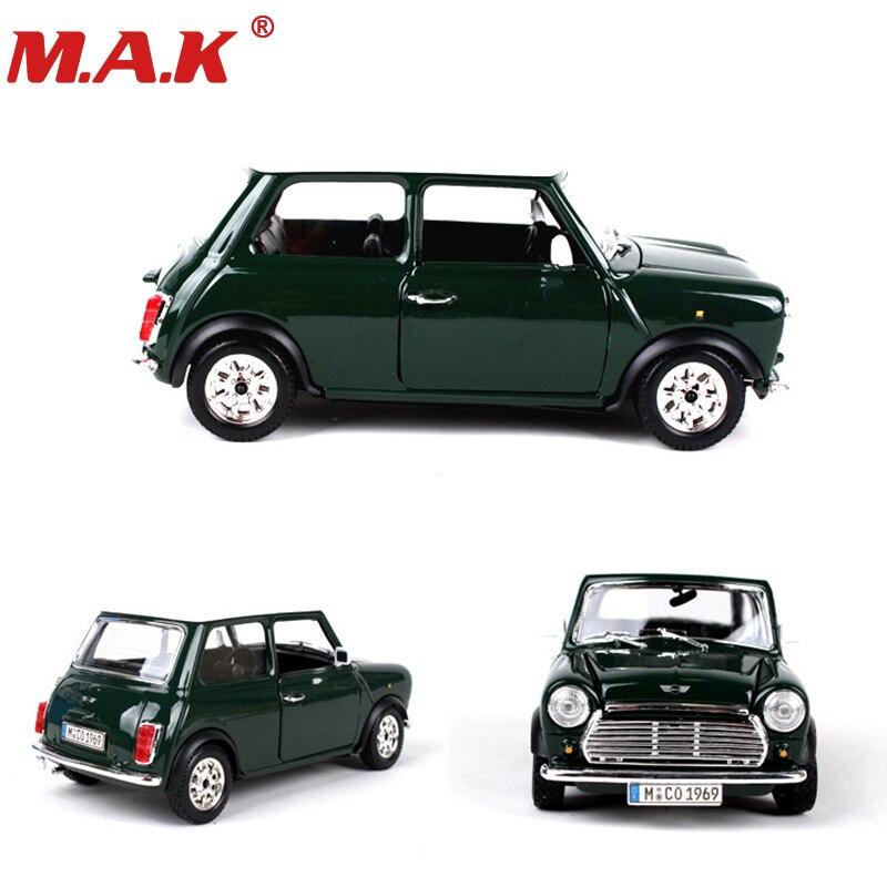 1:24 diecast car 1969 MINI COOPER modelos de vehículos clásicos coches deportivos juguetes rojo/Verde color para coleccionable