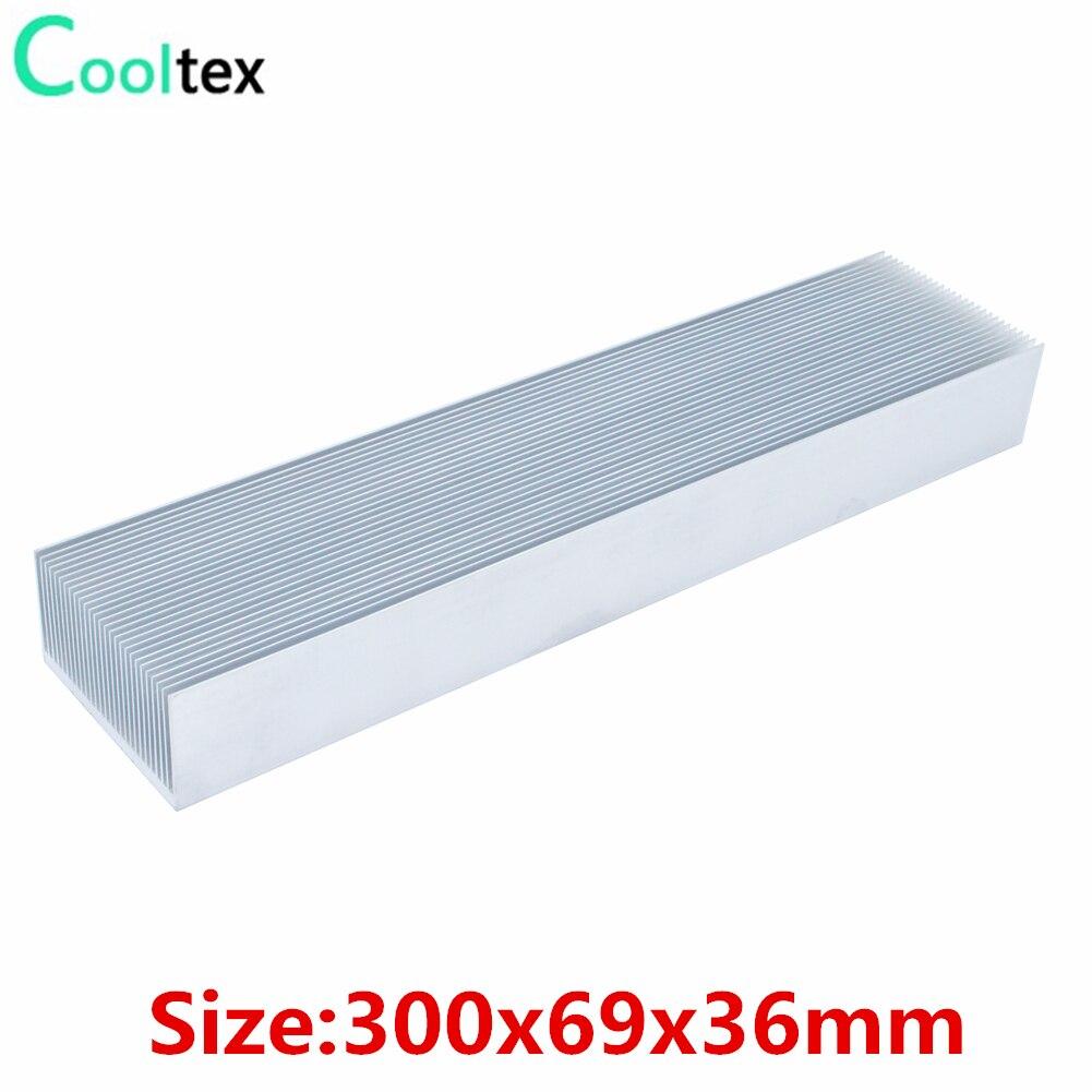 Disipador de calor de aluminio 300x69x36mm gran disipador de calor radiador enfriador para Chip LED disipación de calor electrónica