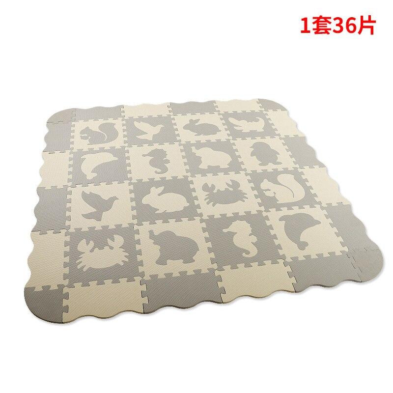 36 Pcs Foam Puzzle Mats Baby Mat with Fence Foam Floor Tiles Kids Puzzle Mat Baby Crawling Mat