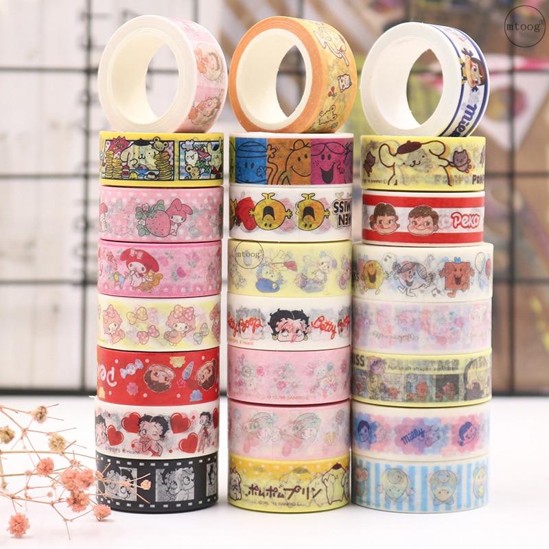 24roll/1lot Washi Masking Tapes Cartoon girl series Decorative Adhesive Scrapbooking DIY Paper Japanese Stickers 5M
