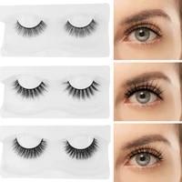 1 pair 5d mink lashes natural long false eyelashes dramatic volume fake lashes eyelash extension handmade faux cil makeup tools