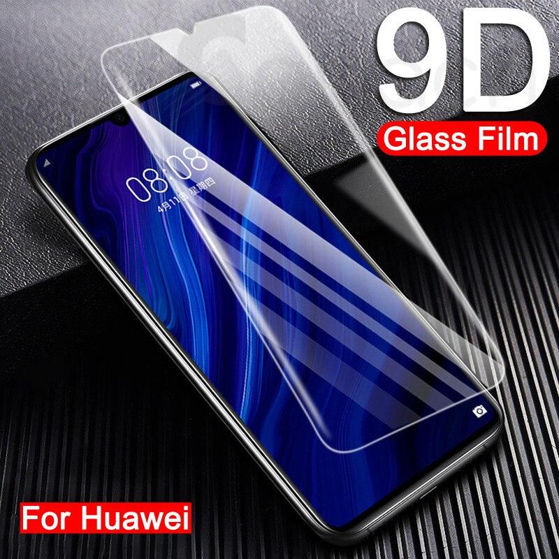 9d vidro temperado para huawei p30 p40 lite e p inteligente 2019 de vidro protetor para huawei p20 pro p10 plus lite filme protetor de tela