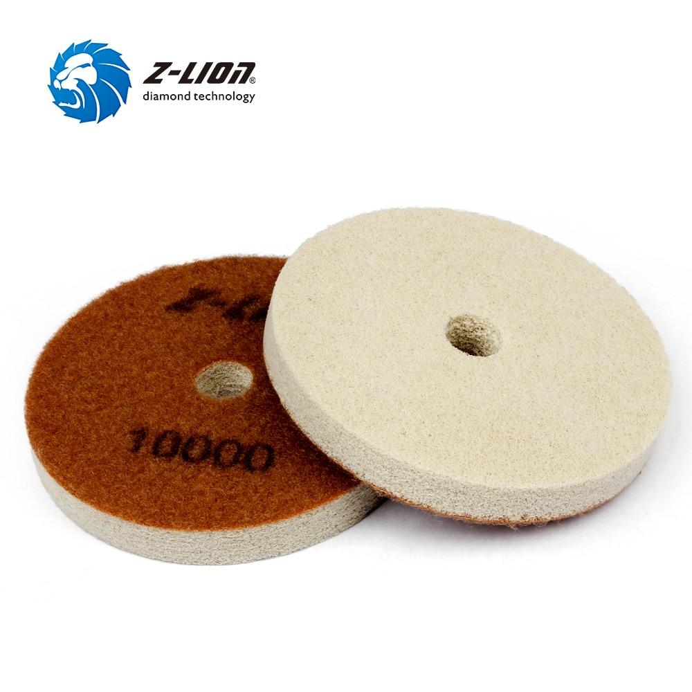 Z-LION 2 шт. алмазная полировальная губка, мраморный гранитный бетонный пол, шлифовка 4