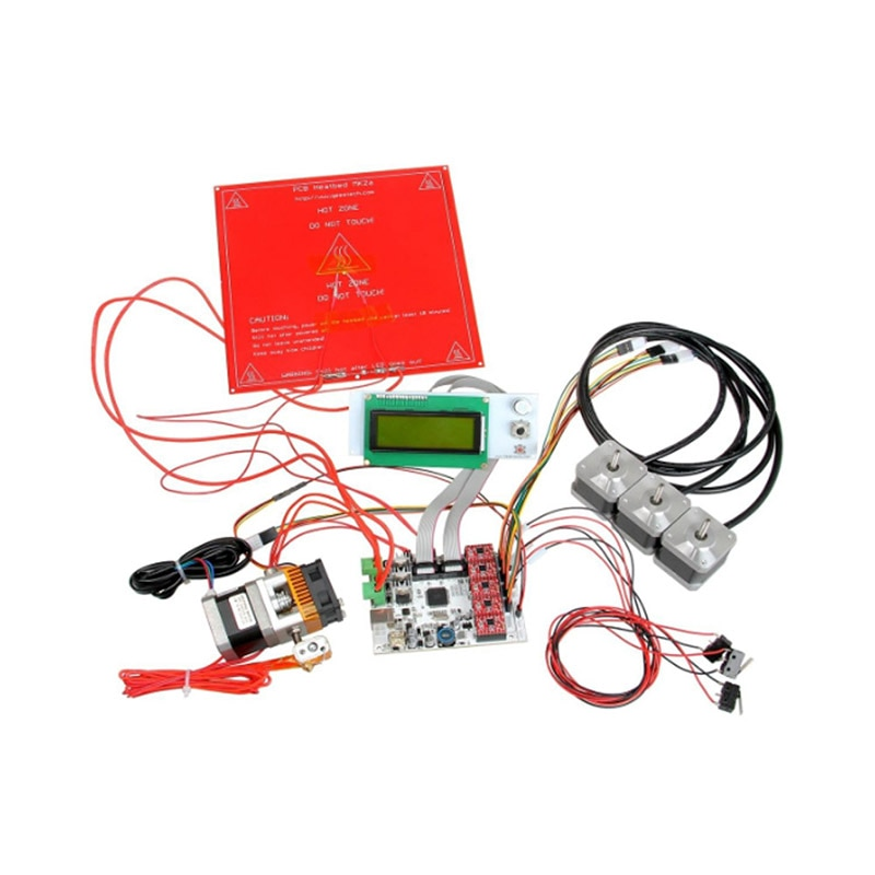 Placa base de módulo de impresora 3D Kit GT2560 A4988 controlador LCD2004 Placa de Control @ M23